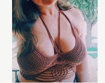 Crochet PATTERN | Pineapple Bliss Crop Top Crochet Pattern | Women's Bralette Crochet Pattern | Crop Top Crochet Pattern | Summer Crochet