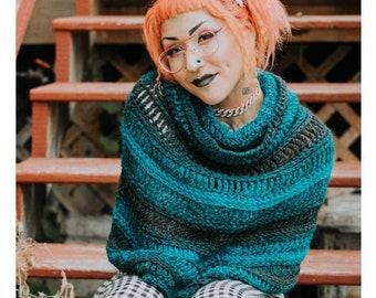 CROCHET PATTERN | Capelet Crochet Pattern | Cowl Neck Poncho Pattern | Cowl Hood Pattern | Women's Crochet Pattern | New Crochet Pattern