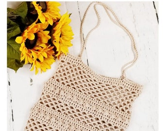 Crochet PATTERN | Crochet Market Tote Bag Pattern | Free SPIRIT Market Tote Crochet Pattern | Boho Bag PATTERN | Pdf Digital Download