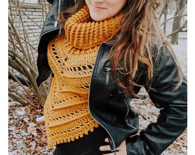 Featured listing image: Crochet PATTERN | Celine Cowl Neck Vest Pattern | Triangle Vest | Women's Sweater Vest Crochet Pattern | Ribbed Cowl Neck Vest | Digital PDF