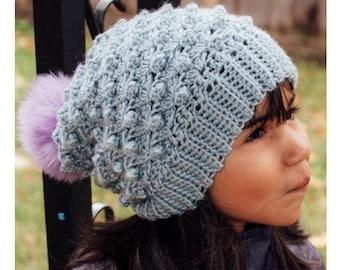 Slouchy Beanie Crochet Pattern | Slouch Beanie Pattern | Puff Beanie | Crochet Pattern Women's & Kids Slouch Hat | Slouchy Hat Pattern | PDF