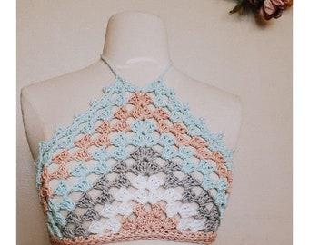 Crochet PATTERN Knotty Crop | Women's Festival Crop Top Crochet Pattern | Summer Crochet Pattern | Beach Crochet PDF Digital Download