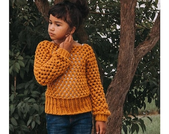 Embrace the Change Sweater Crochet Pattern for Girls | Sizes 12 Months up to 12 Years Pattern | Fall/Winter Sweater PDF Pattern for Child