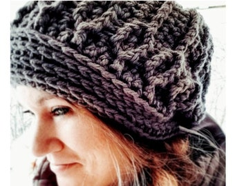 Crochet PATTERN Queen of Wands Slouch Beanie and Chunky Thick Headband in Child and Adult Sizes | PDF Download For Slouchy Hat & Headband