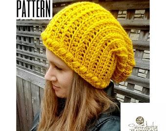 Crochet PATTERN   Slouchy Beanie Pattern   Crochet Pattern Aspen Slouch Beanie   Puff Beanie Pattern   PDF Digital Download Pattern