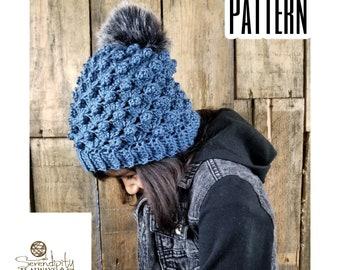 Slouchy Beanie Crochet Pattern   Slouch Beanie Pattern   Puff Beanie   Crochet Pattern Women's & Kids Slouch Hat   Slouchy Hat Pattern   PDF