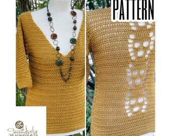 Crochet PATTERN Skull EnV Sweater | Women's V Neck Sweater Crochet Pattern | Fall Crochet Pattern | Halloween Sweater Crochet PDF Download