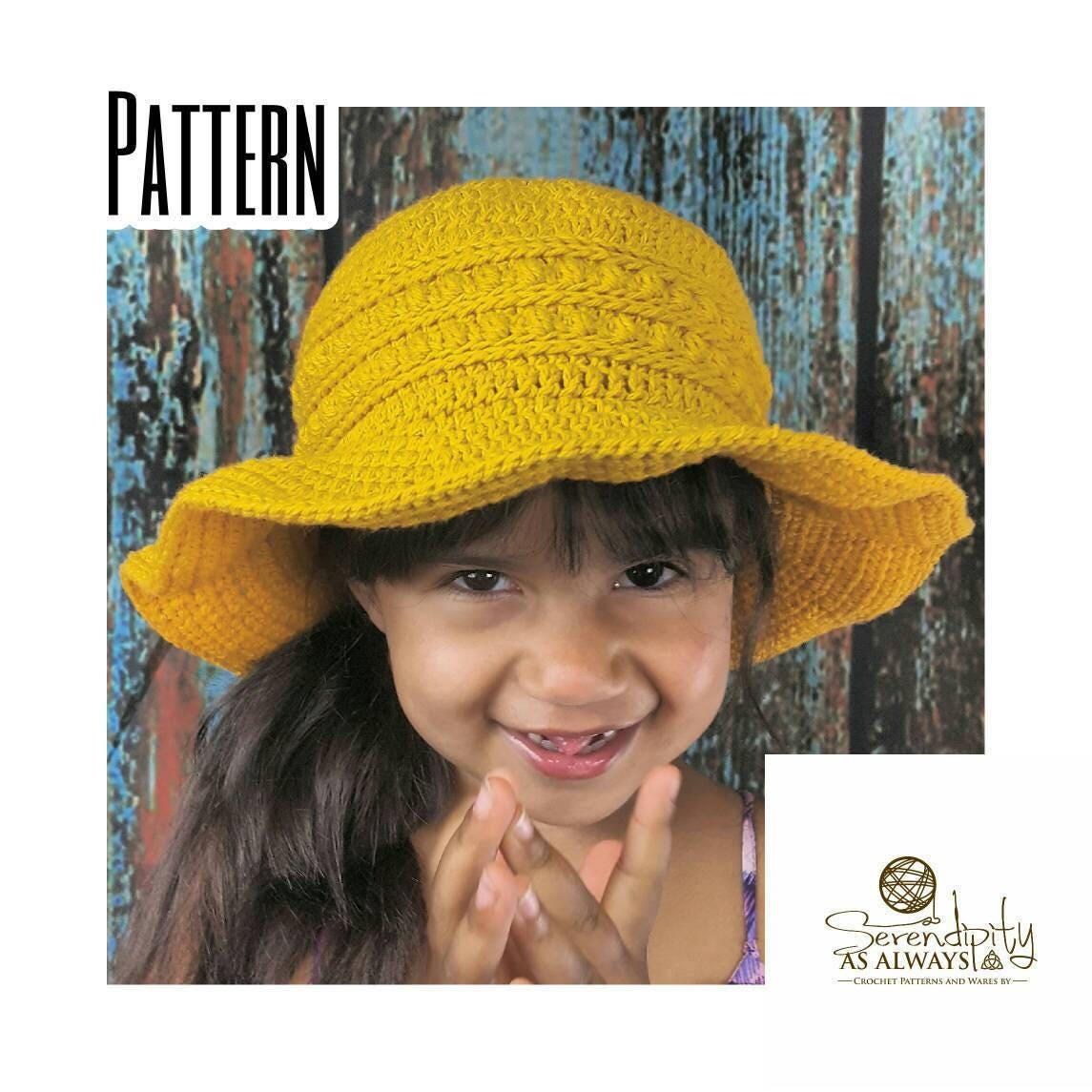 Sun Hat Crochet Patten Crochet Pattern Summer Sun Hat Child And