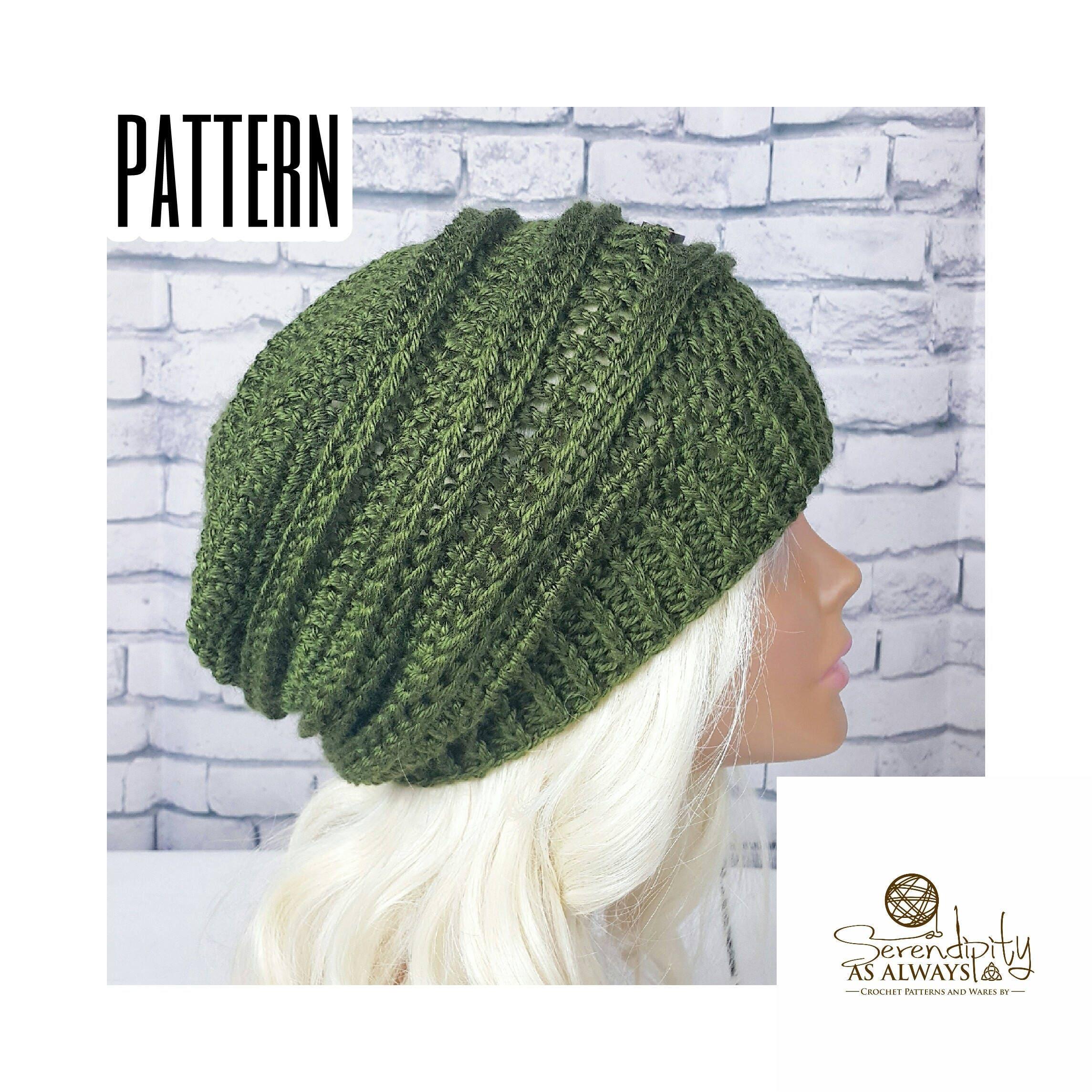 Crochet PATTERN | Ribbed Slouchy Beanie Crochet Pattern | Slouch Hat ...
