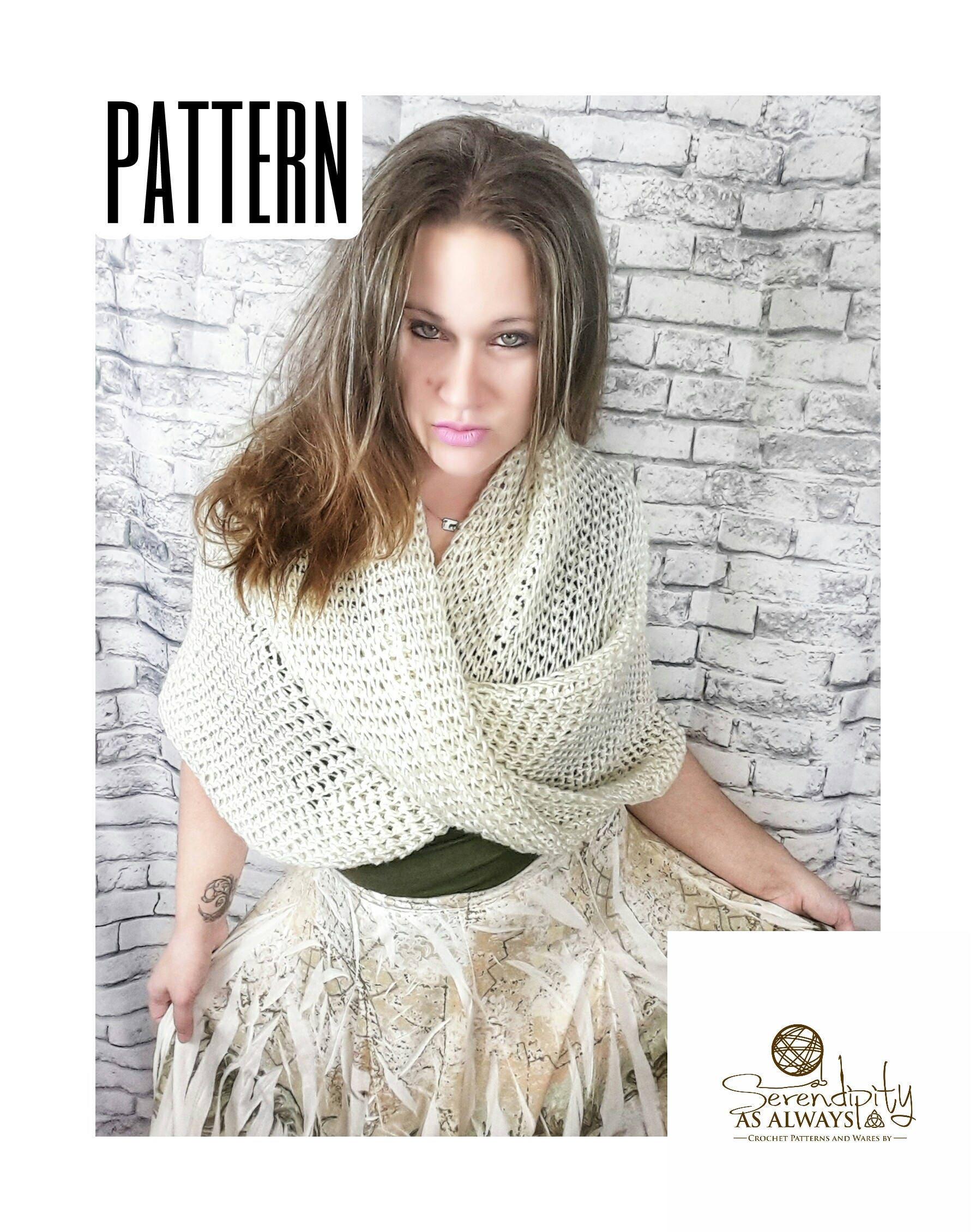 Crochet PATTERN | Woman\'s Wrap Pattern | Women\'s Twisted Wrap ...
