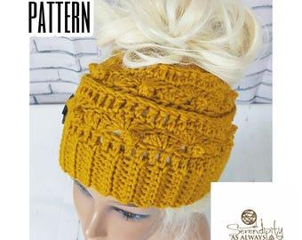 Crochet Pattern Messy Bun Beanie | Ponytail Beanie Crochet Pattern | Crochet Pattern Messy Bun Hat | Ponytail Hat Pattern | PDF Download