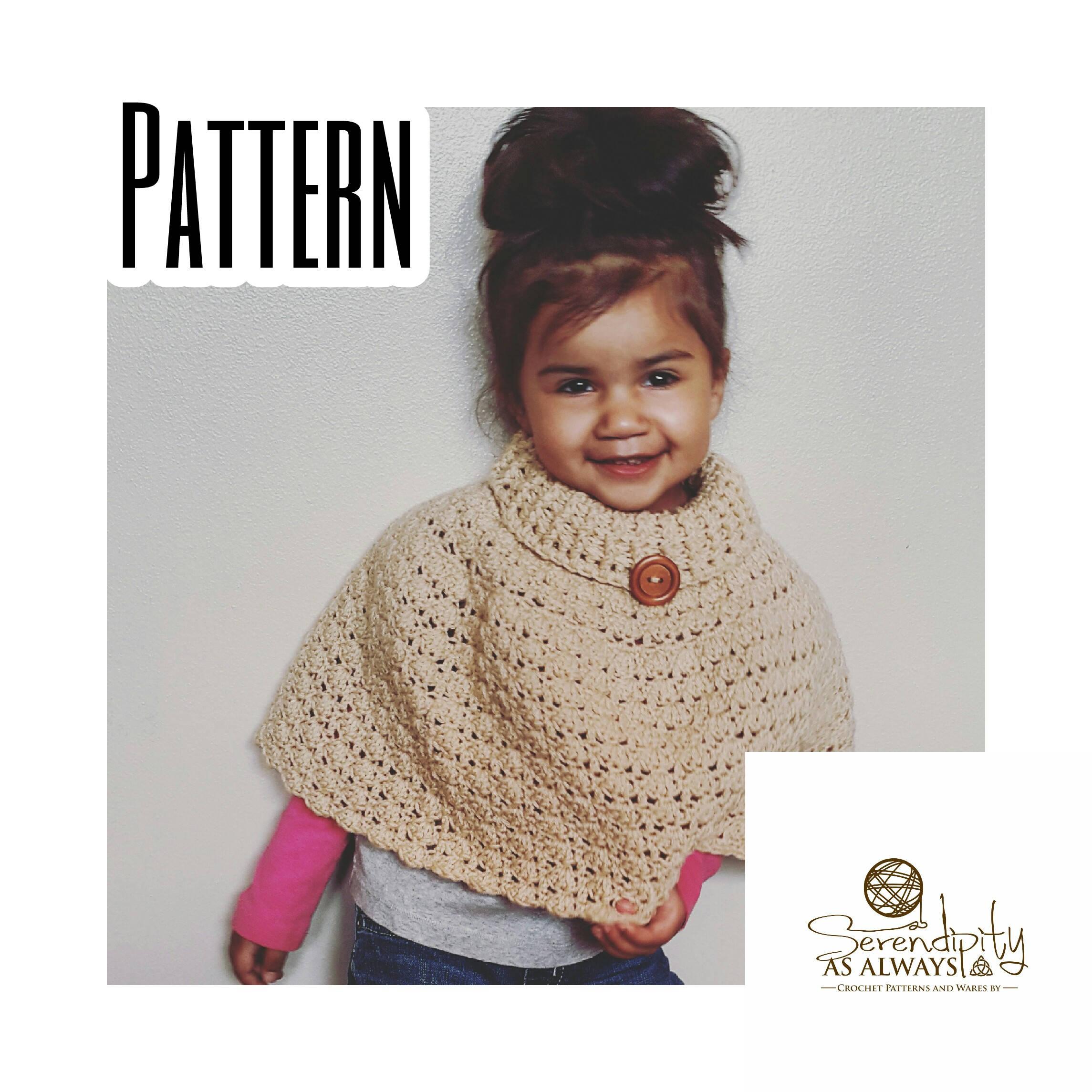 CROCHET PATTERN | Cowl Neck Cloche Poncho | Cowl Poncho Pattern ...