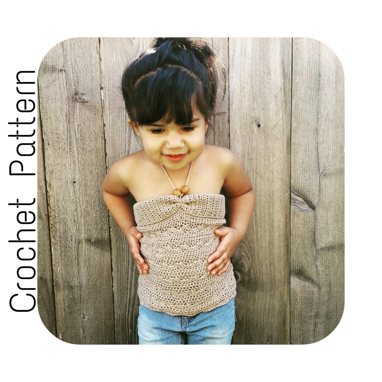 Crochet Pattern Halter Top Crochet Pattern Girls Summer Shirt