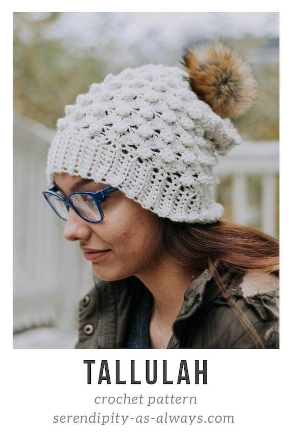 Slouchy Beanie Crochet Pattern Slouch Beanie Pattern Puff | Etsy