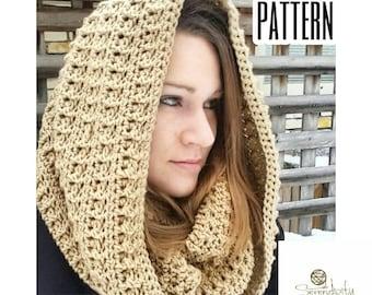 Crochet Pattern Hooded Cowl | Easy Hooded Cowl Crochet Pattern | Crochet Pattern Cowl | Hood Crochet Pattern | Esmeralda Hooded Cowl PATTERN