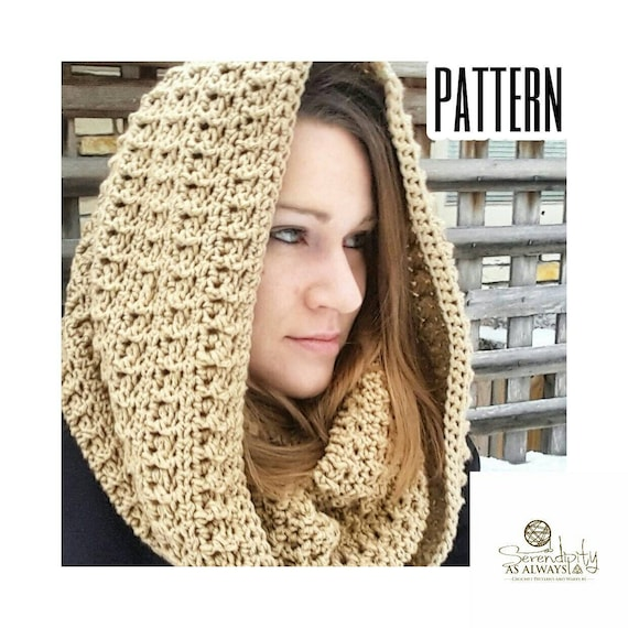 Crochet Pattern Hooded Cowl Easy Hooded Cowl Crochet Pattern Etsy Impressive Hooded Cowl Pattern