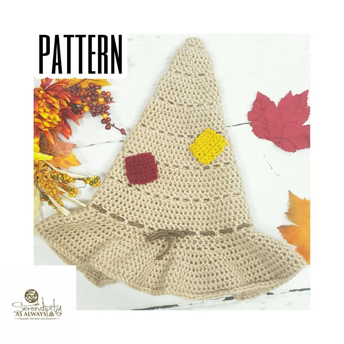 Crochet Pattern Scarecrow Hat Crochet Pattern Crochet Scarecrow