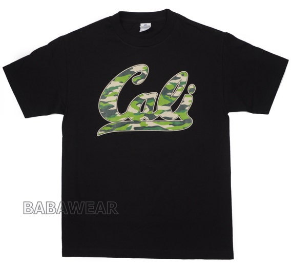 California Camouflage CALI T-Shirt Black Camo