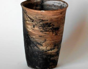 Horsehair Marbled Vase