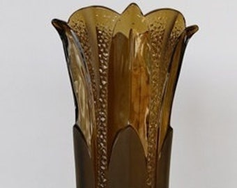 Art Deco Fumé-colored vase in pressed Brockwitz glass 1936.