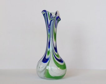 Italian vase in marbled crystal glass.