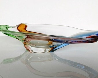 Crystal glass bowl of the Rhapsody series after design Frantisek Zemek