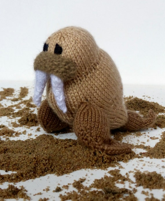 Walrus Knit Toy Pattern Pdf Instant Download Pattern To Knit Etsy