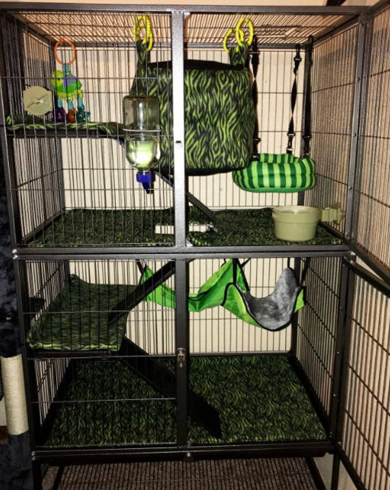 PREVUE Hendryx 485, Feisty Ferret cage doublures polaire ...