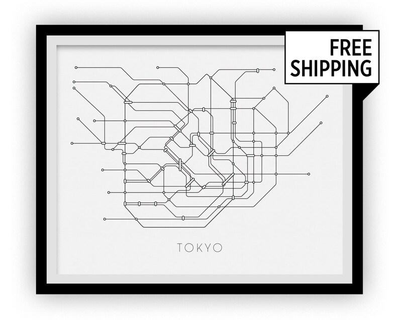 Tokyo Subway Map Print Tokyo Metro Map Poster | Etsy