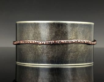 Mixed Metal Cuff Bracelet in Nickel Silver, and Copper