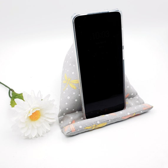 Floral phone cushion Holiday Gift Mobile phone beanie Kindle Stand Xmas Gift iPhone Holder Phone accessories Fabric Smartphone Stand