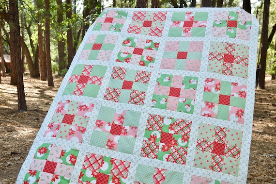 Uneven 9 Patch Quilt Pdf Quilt Pattern Swell Christmas
