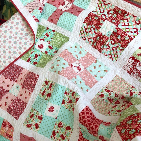 Uneven 9 Patch Quilt Pdf Quilt Pattern Swell Christmas Quilt Etsy