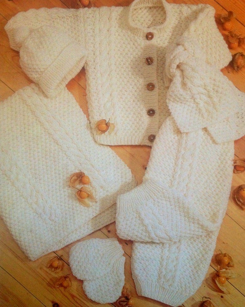 da8567baa1cc Knitting pattern PDF for baby to child aran jacket blanket