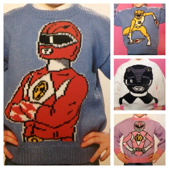 Power Rangers Knitting Pattern Sweaters For Children And Etsy