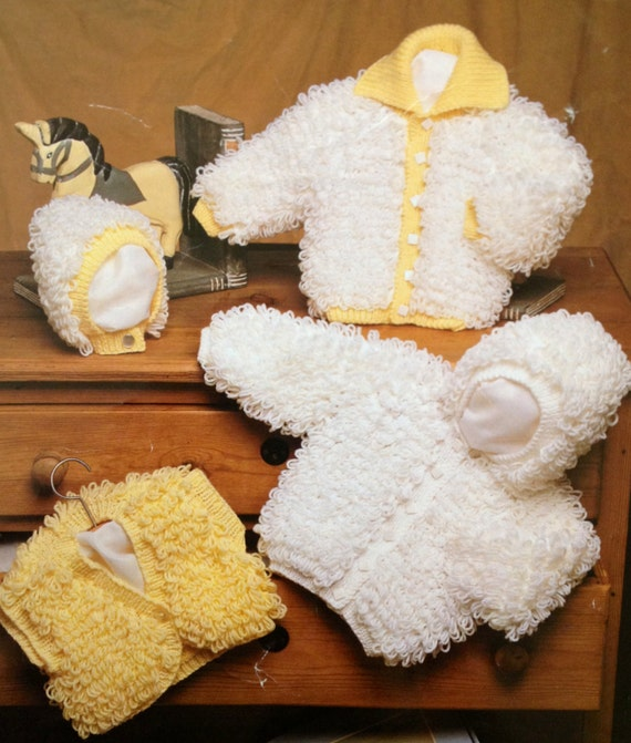 Vintage Knitting Pattern For Baby Or Toddler Girls Loopy Etsy