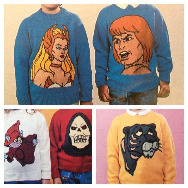 Pdf Vintage Knitting Pattern Retro He Man Sweaters In Dk Or 4 Etsy