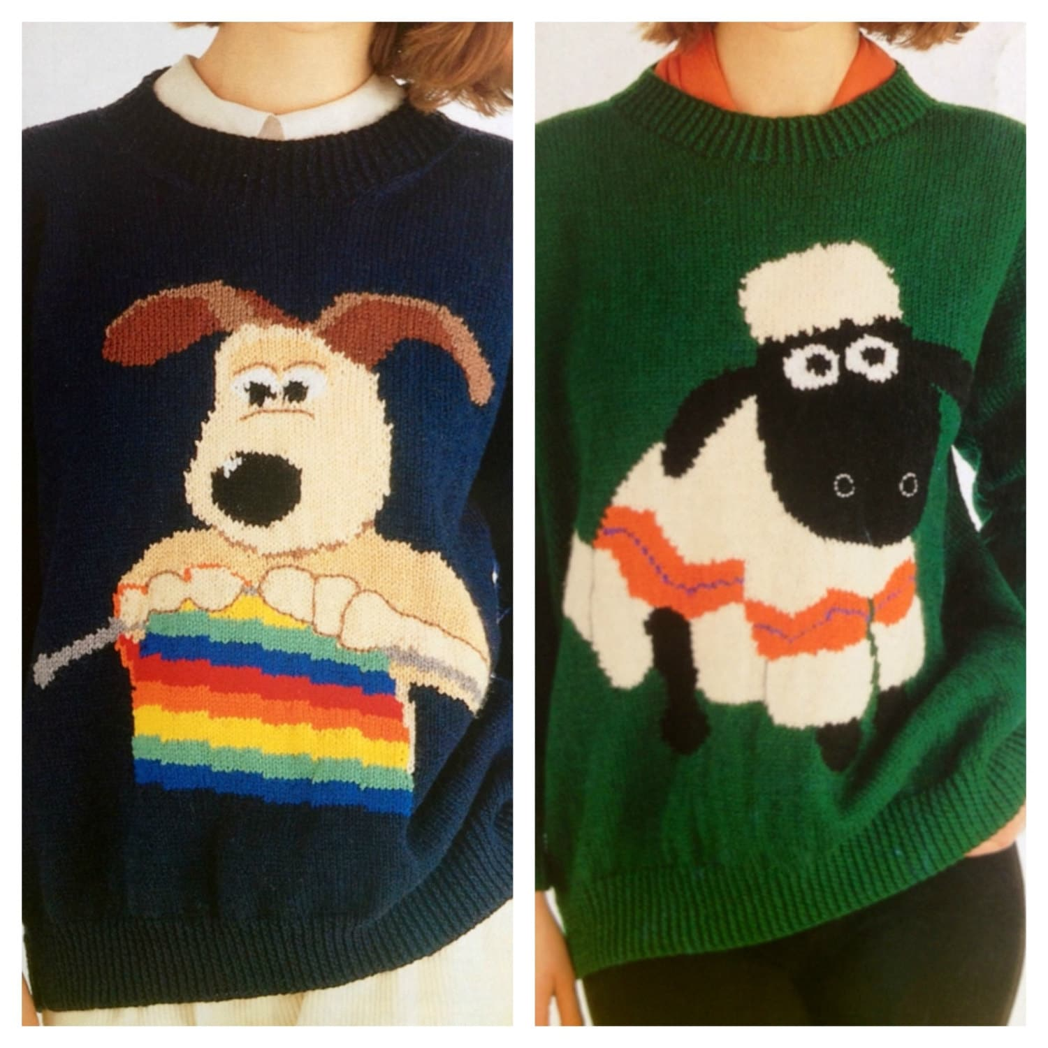 wallace and gromit and shaun the sheep knitting patterns