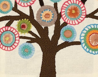 """Blooming Tree crewel embroidery kit (size 9.5""""x9.5"""")"""
