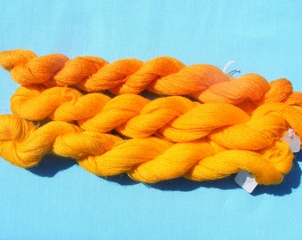 Appleton Crewel Wool Yarn - Shades of Yellow Orange -180 yard each(3 hanks)