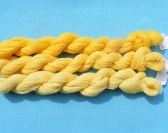 Appleton Crewel Wool Yarn - Shades of Yellow -180 yard each(3 hanks)