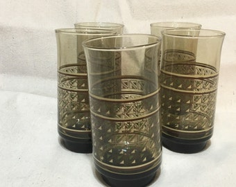1970's Geometric drinking glasses