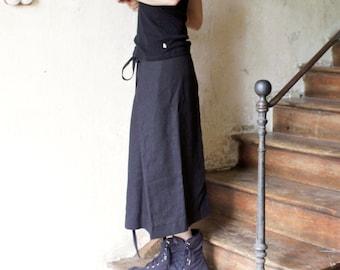 Linen skirt, Long skirt, Wrap skirt, Eco friendly linen