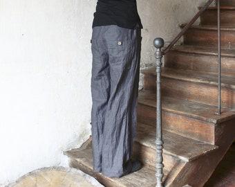 Loose linen pants, Pair of linen trousers, Lounge wear, Loose fit pants, Eco friendly linen