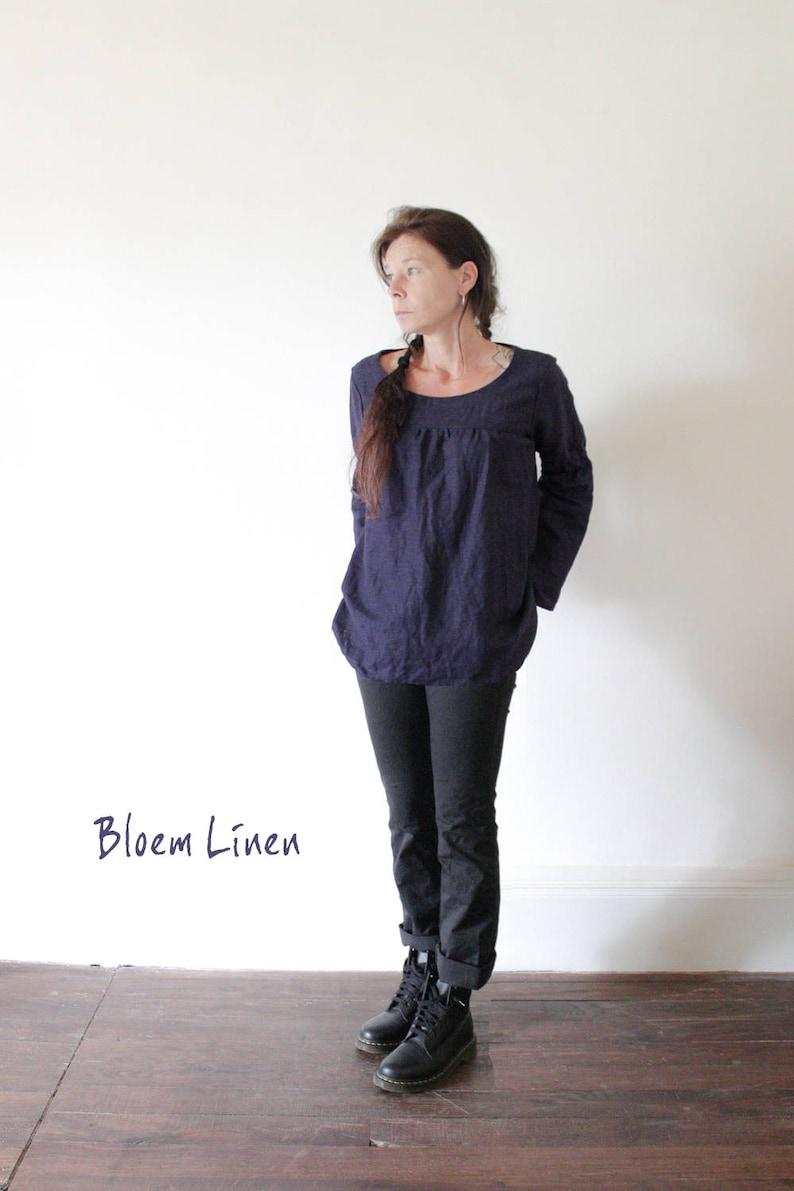 e8307c41b718f Linen blouse with long sleeves Linen top Handmade