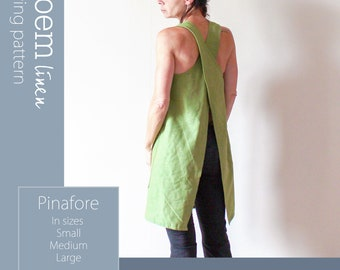 Sewing Pattern Pinafore Apron, Instant PDF Download