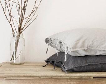 Carré de lit taie d'oreiller, fait sur commande, 65 x 65 cm / 25,6 x 25,6 pouces, pré lavé housse de coussin lin