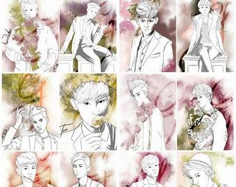 EXO Watercolour prints