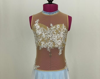 Custom Made to Order: Lyrical/Contemporary Leotard ; Nude Mesh Bodice and Skirt