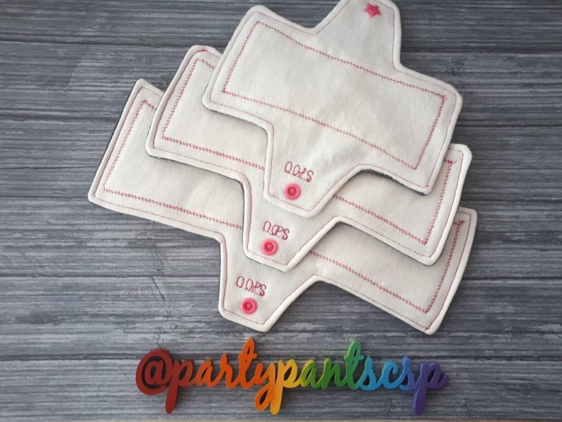 bamboo /& charcoal fabrics Multipack Incontinence pads 4 or 7 pack, waterproof core 3 lengths bladder control machine washable